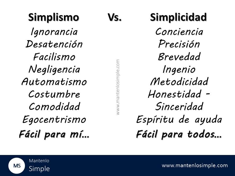 Sabiendo de qué lado jugar: Simplismo vs. Simplicidad – Mantenlo Simple