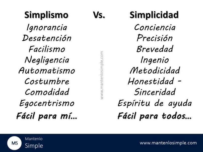 Simplicidad-simplismo