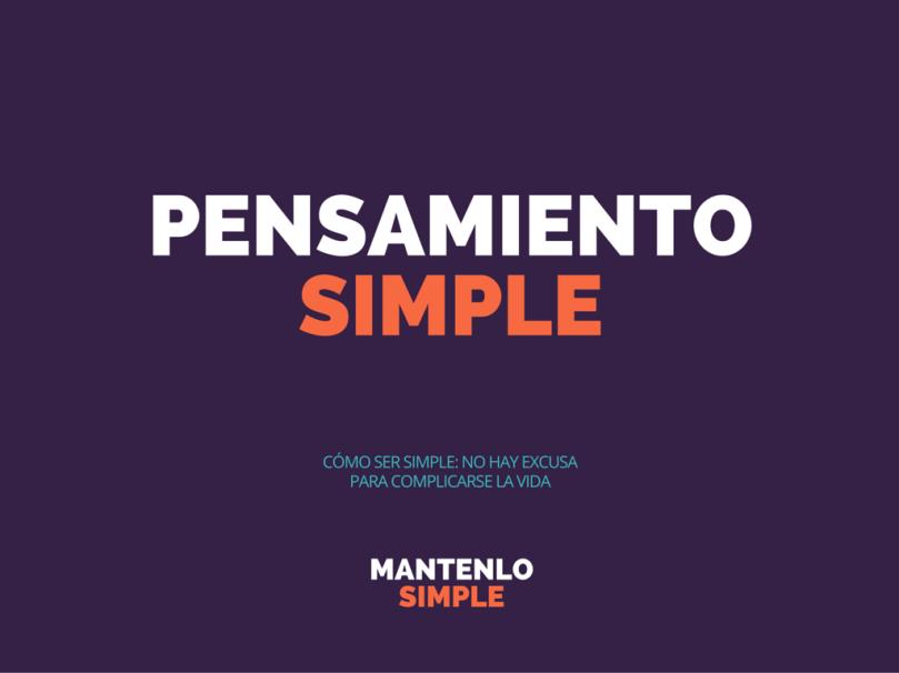 PENSAMIENTO SIMPLE