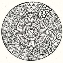 Vector decorative hand drawn circle